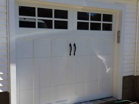 Closeup of Garage Door