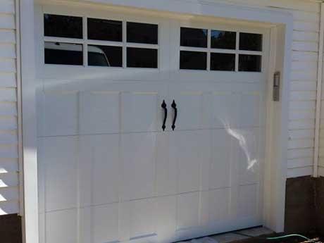 Closeup of Garage Door